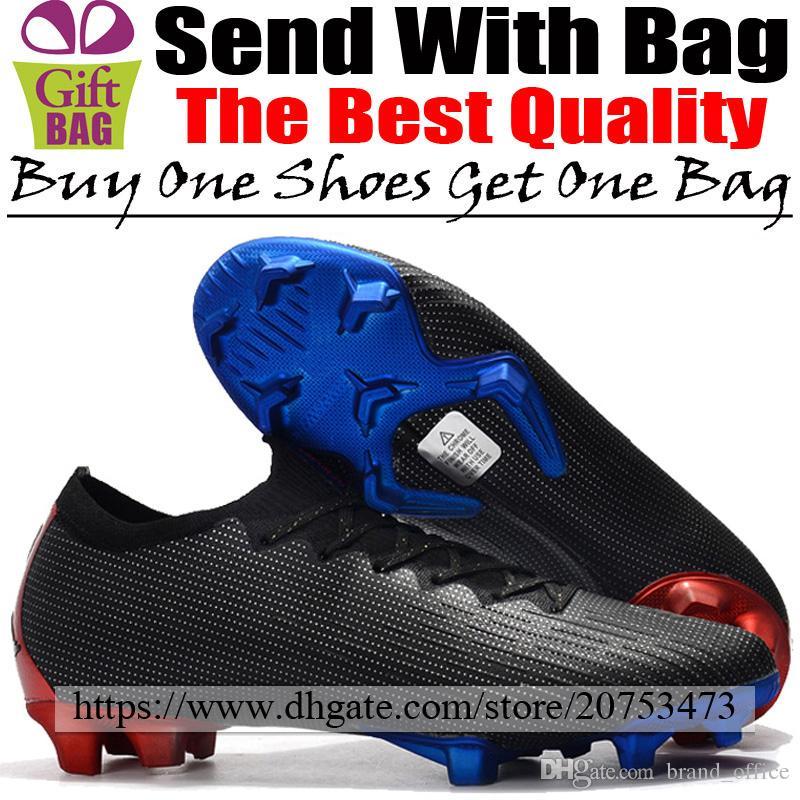 Nuevos zapatos de fútbol JR X PSG para exteriores Futsal Mercurial Vapors XII FG ACC Botas de fútbol Calcetines Zapatillas de deporte Zapatillas Zapatillas de fútbol Negro Azul Rojo 39-46