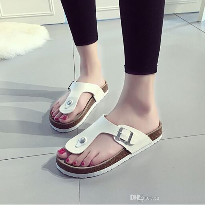 Vendita superiore paillettes Spiaggia sughero pantofole 18 stili Casual sandali infradito Cuoio Dell'unità di elaborazione antiscivolo clip pantofole