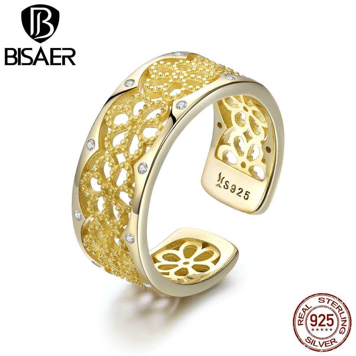الجملة لون الذهب باجي أصيلة 925 فضة زهرة تكويم البنصر فتح حجم الحرة باجي مجوهرات خمر GXR460