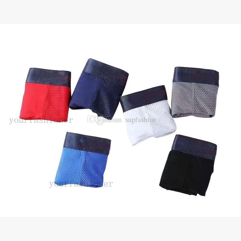 5pcs / lot malha respirável Mens Boxers Breve Underwear Shorts Sexy Modal Man Boxers respirável Mens Boxers Underwear Masculino Boxer