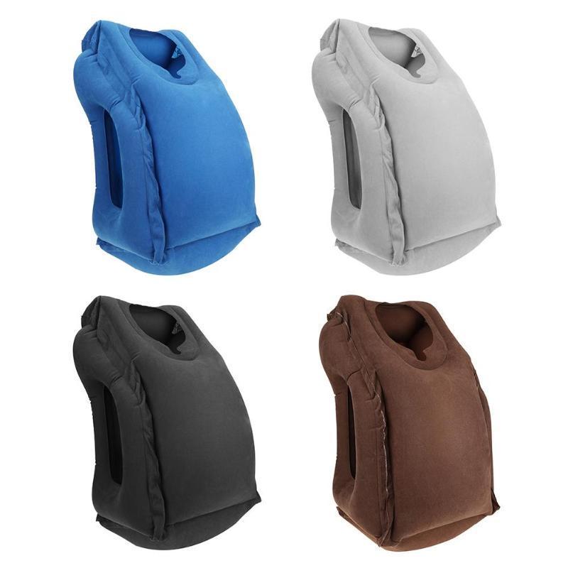 Almohada de viaje portátil caliente Almohada inflable Cojín suave de aire Cuerpo de viaje Soporte de espalda Cuello de golpe plegable Textil para el hogar