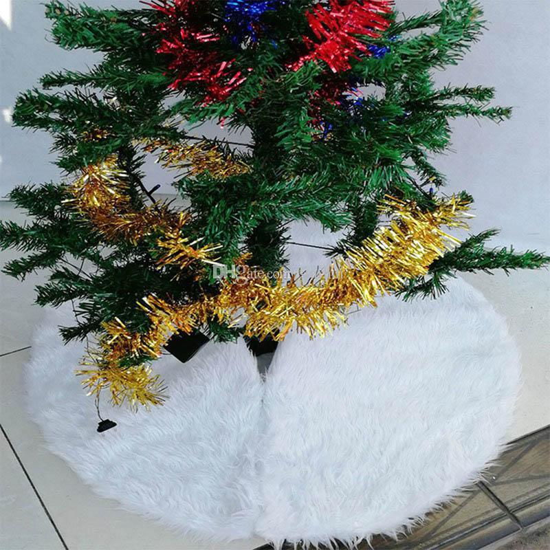 Noel Ağacı Etek Dekorasyon Beyaz Kadife Ağacı Etek Süsleme Merry Christmas Yıl Partisi Tatil Ev Süslemeleri Çuval Bezi Xmas WX9-1126