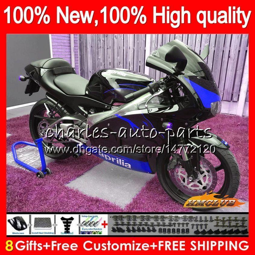 Тело Для Aprilia RSV125 RS125 RS125 99 00 01 2003 2004 2005 70NO.125 RS125R RS 125 RSV125R синий черный 2000 2001 1999 02 03 04 05 обтекателя