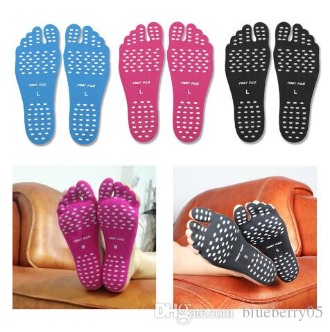 Waterproof Beach Insoles Foot Sticker Shoes Stick on Soles Sticky Pads Foot Care