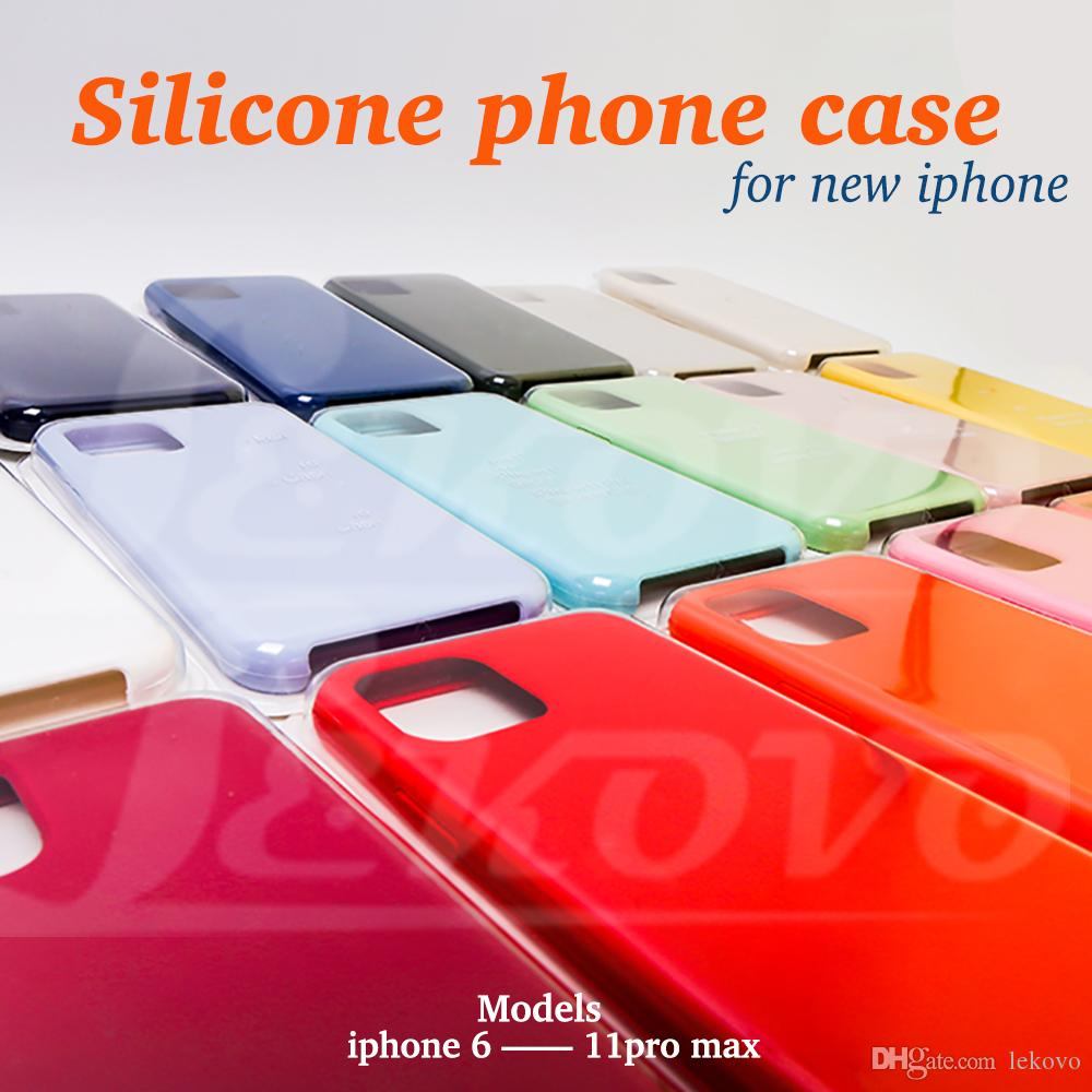 High Qulity Silicone Case Have logo For iPhone12 pro max /12 mini / 12pro 11pro /11 pro max 11 Samsung S9/S10 Optional With Retail Package