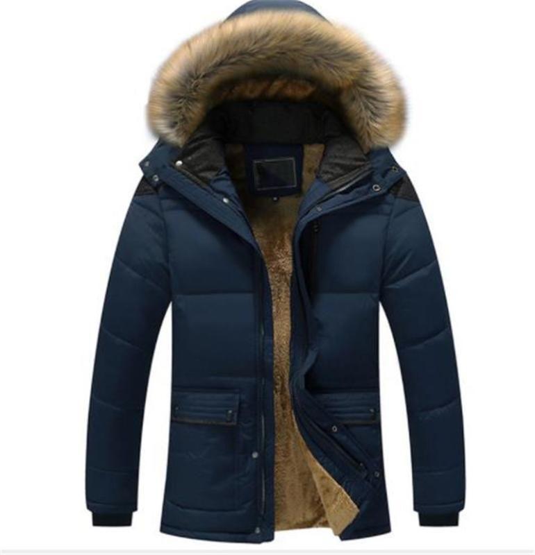 Größe Herren-Jacken Slim Down Mäntel Herren Mtlg Windjacke Oberbekleidung Männer unten Winter-Dicke Plus-
