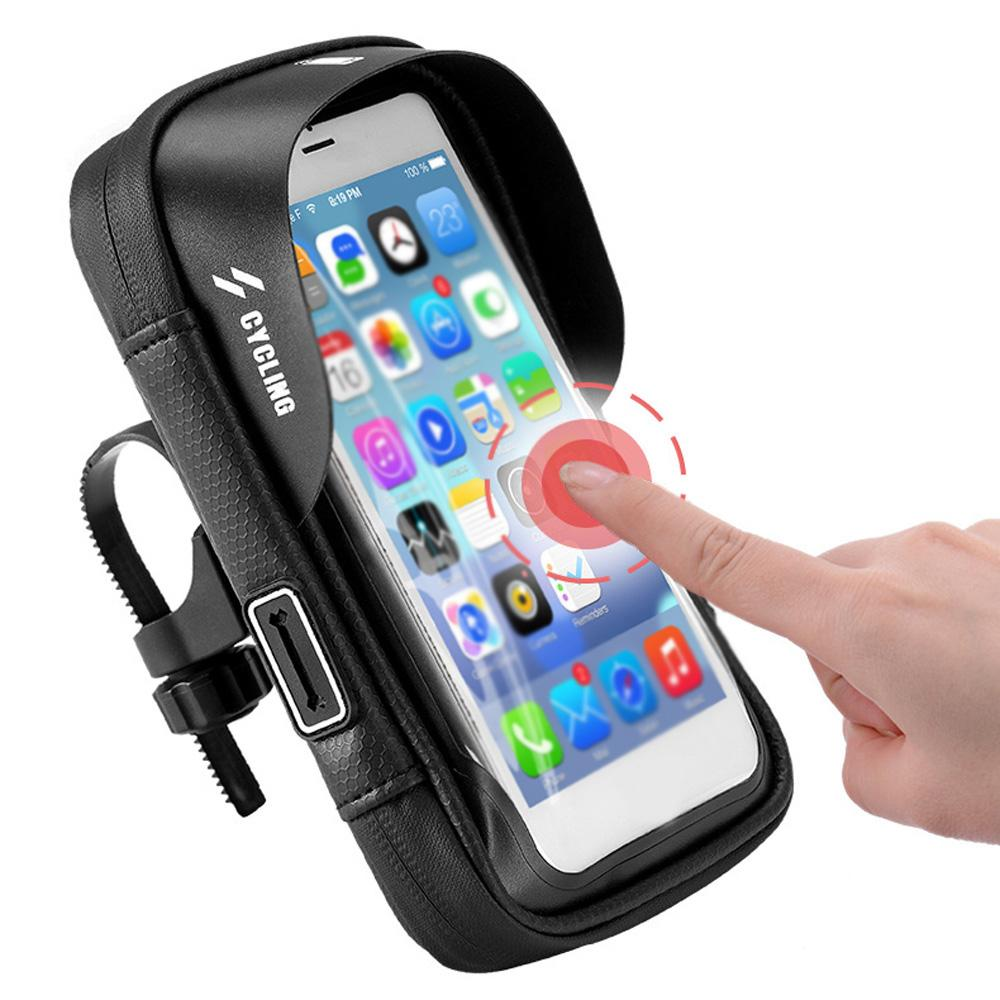 CBR Bicycle Bike Phone Holder Stand Bracket Front Tube Bracket Cycling Universal Applicable For 5.8 / 6.0 Inch Mobile Phone