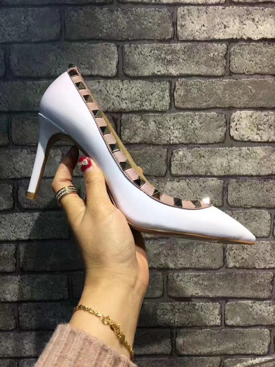 Venda-os quente novos saltos das mulheres, bens de luxo high-end do mundo, são para sempre nova, 5 cor e alta tamanho 34-42 8.5cm.