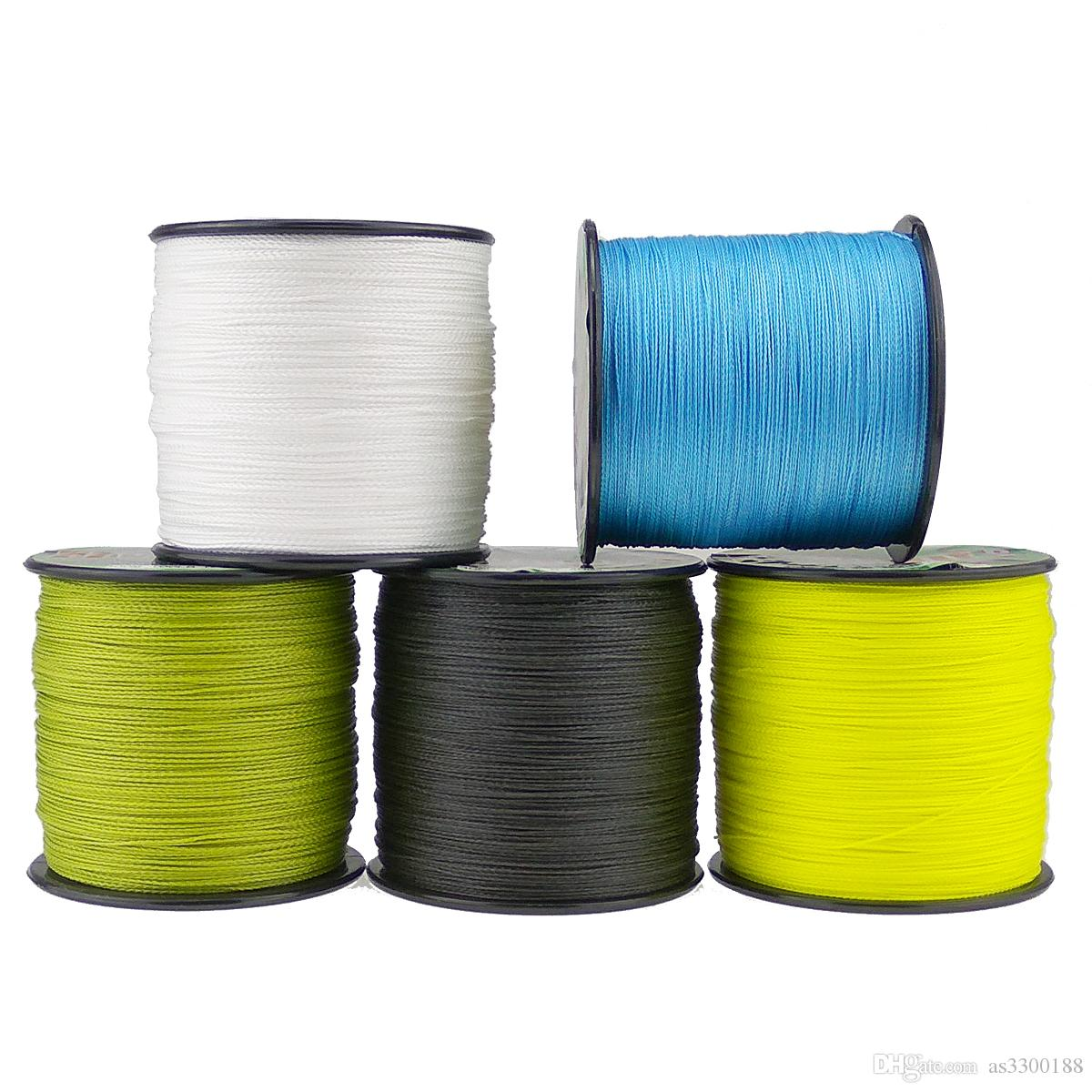 Braided fishing line 500m super pe wire 8 strands 10 20 30 130 150 200 250 300LB green grey yellow multicolor 8 braid cord wire 0.14mm-1.0mm
