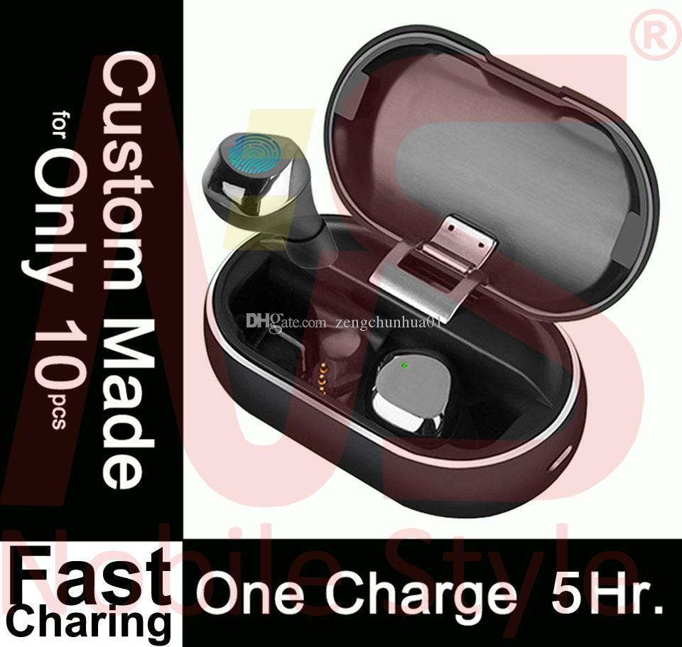Custom Made Mini Wireless Earbuds #72Hrs with Charging Case# Bluetooth TWS Wireless 5.5 Hours PK i7 i8 i12 i10 i9 i500 i12