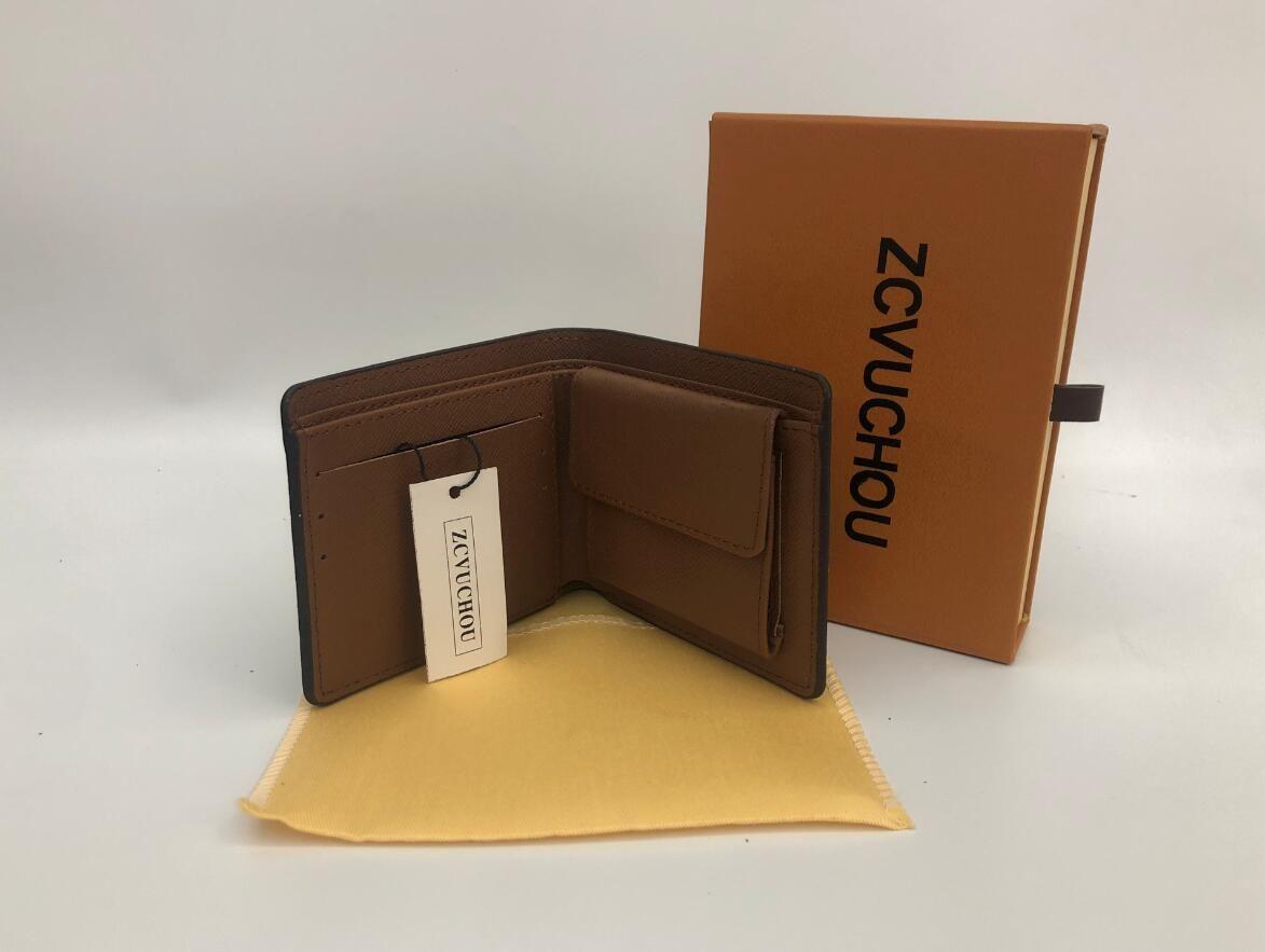 Menores de cuero para hombre hombres 2019 monedero monedero pequeño embrague bolso de monedas bolso de moneda de bolsas de bolsas con caja de polvo de caja