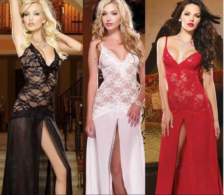 Court restores ancient ways sexy lace pajamas European and American sex appeal underwear pure white noble princess dress