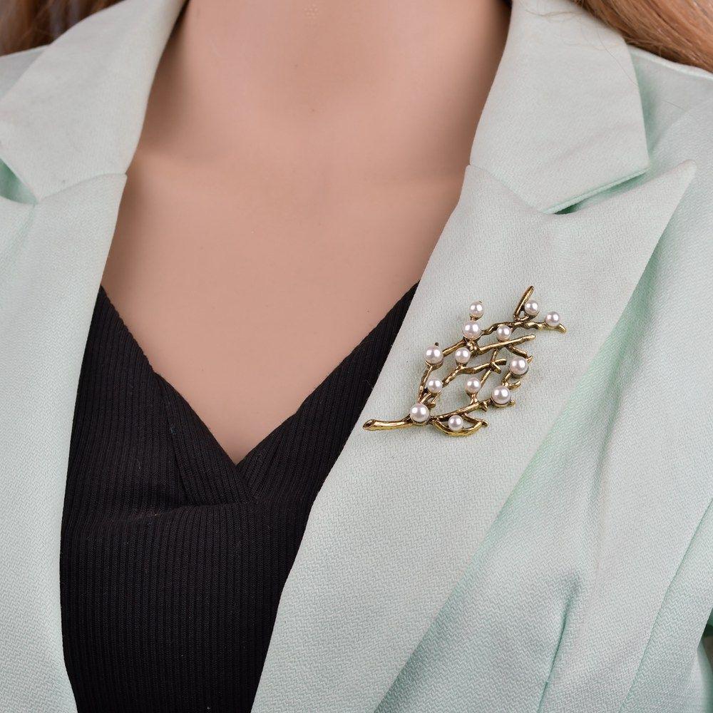 Broches árvore de pedra do vintage para Mulheres Grande terno elegante vestir Broche Pin moda jóias B173 Partido Acessórios presente