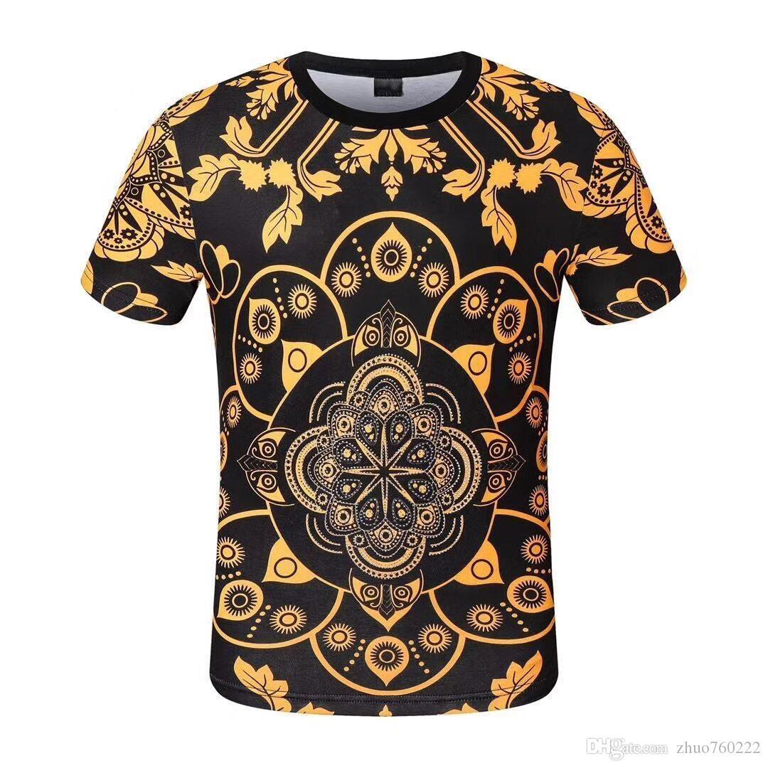2020SS новый бренд дизайнер мужчин и женщин весна / лето популярный логотип хип-хоп майка с коротким рукавом высокого качества фабрики пятна -PP