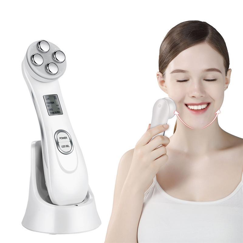 بالموجات فوق الصوتية الوجه تنظيف الجلد الغسيل تطهير الوجه تقشير آلة منظف المسام + RF EMS LED مكافحة الشيخوخة الوجه مدلك 35