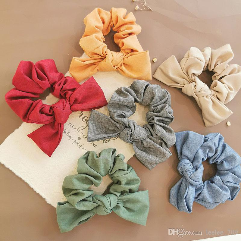 Olive green scrunchie with bowbunny ears