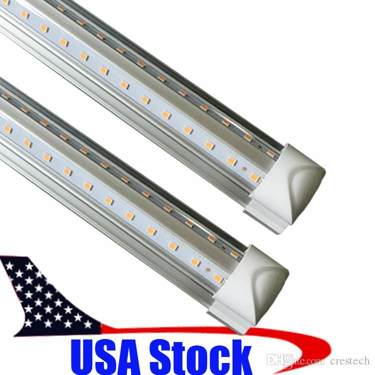 T8 4 Feet V Shaped 4ft 5ft 6ft 8ft Tube Integrated LED Tubes Light Replace Fluorescent Light AC85-265V 270 Degree 1.2M 1200MM