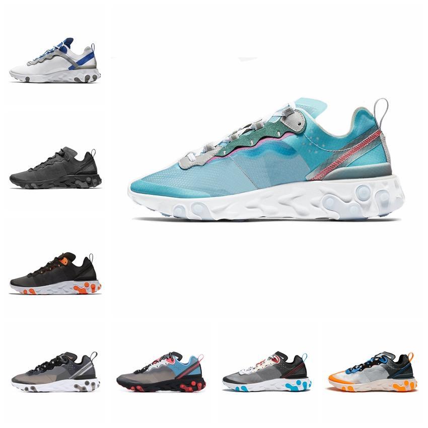 Nike 2019 reagieren Element 87 55 Laufschuhe für Männer Frauen Anthrazit Light Bone Triple schwarz weiß RED ORBIT Mode Herren Turnschuhe Sport Sneaker