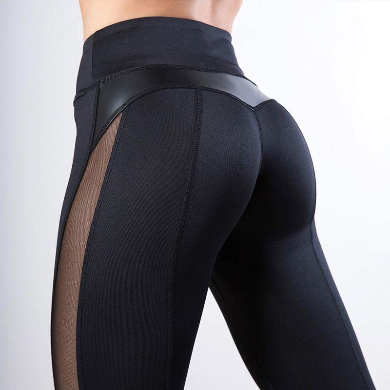 Spor yoga spor kadınlar için tozluk spor sıkı mesh yoga tayt yoga pantolon kız kadınlar için koşu pantolon tayt