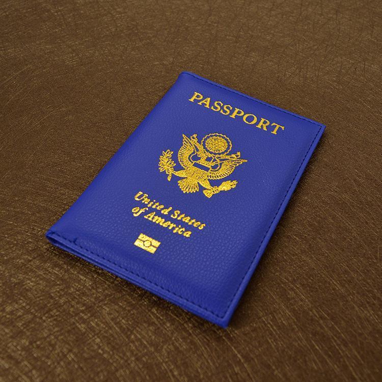 وصول جديدة لطيف السفر حامل جواز السفر USA تغطية المرأة الوردي USA الجوازات الأمريكية 9 ألوان أغطية للجوازات بنات حالة جواز السفر المحفظة
