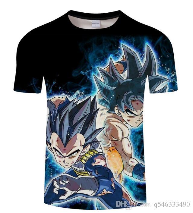 Dragon Ball 3D print t-shirts Short sleeve Shirt Men Women Tshirt #3