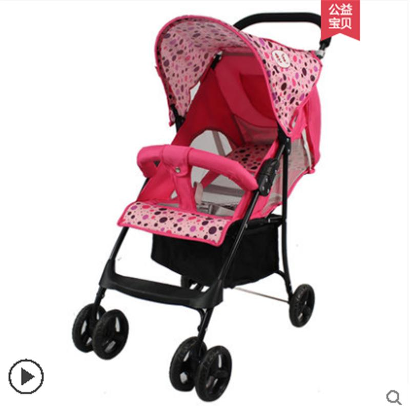 Детская коляска может сидеть летом откидная коляска складная легкая летняя ультралегкая компактная и простая портативная
