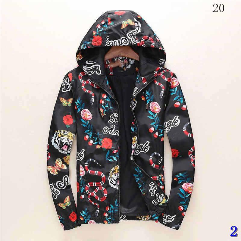 Chaqueta para hombre del diseñador otoño invierno abrigo cazadora chaqueta de la capa de la cremallera marca de moda deporte al aire libre chaquetas Asiático Tamaño de invierno