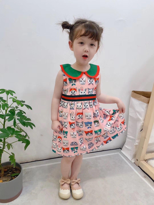 Designer Kinder kleiden 2020 neue Luxus-Mode-Kleid, das frei 041278 Versand
