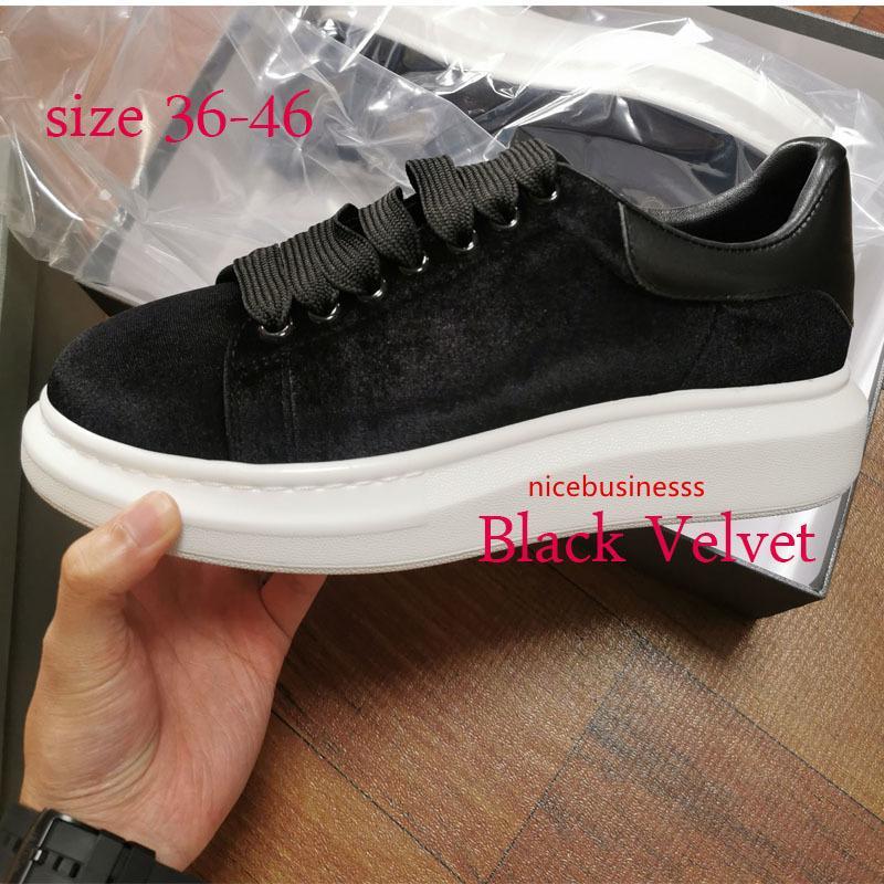 plataforma 2020 de la marca clásica de los zapatos ocasionales Zapatos para mujer para hombre zapatillas de terciopelo Heelback suelas tamaño de los diseñadores estrella de 36-46 con syzbx55