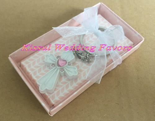 (80 pieces/lot) Adorable Cross Key Chain Wedding Favor For Communion Favors and Baby decoration gift Party favors