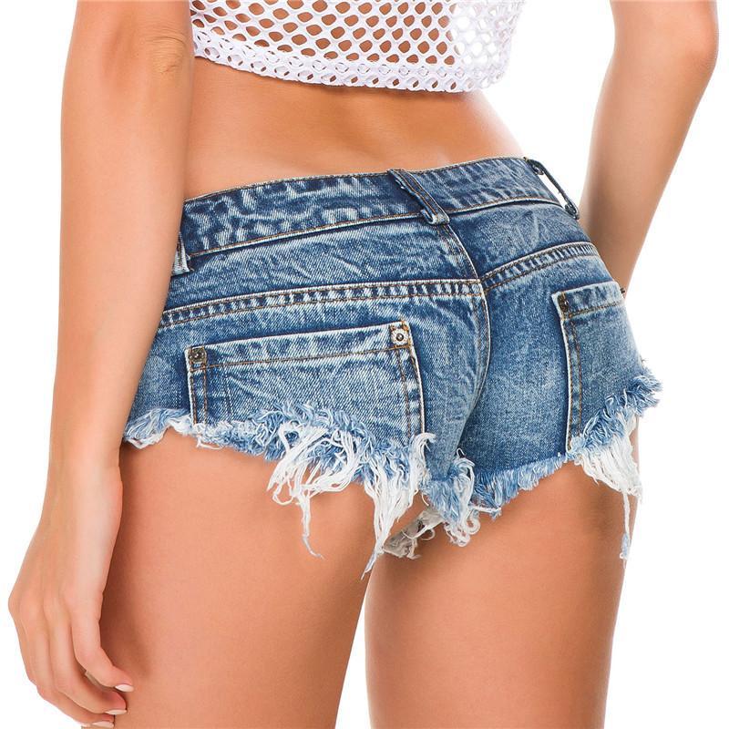 Sıska Şorlar MX200506 feminino NORMOV Moda Yaz Seksi Şort Kadınlar Jeans Mini Kot Ganimet Şort Casual Bayanlar Kulübü Partisi Süper Kısa