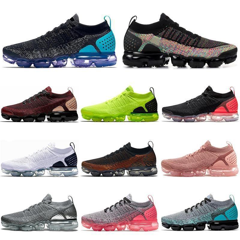 Com meias gratuitos 2020 Designer de sapatos unissex Fly 2,0 Boa Qualidade Moda respirável Outdoor Athletic Mens Formadores Sneakers 36-45