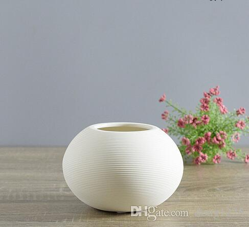 Ana sayfa adornos joyas creativo muebles para el hogar blanco pequeño florero decorado con arte moderno cerámica