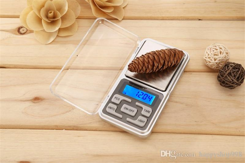 DHL Shipping 200g 0.01g Mini Electronic Digital Scale Jewelry Weigh Scale Balance Pocket Gram LCD Display Smart Scale With Retail Box
