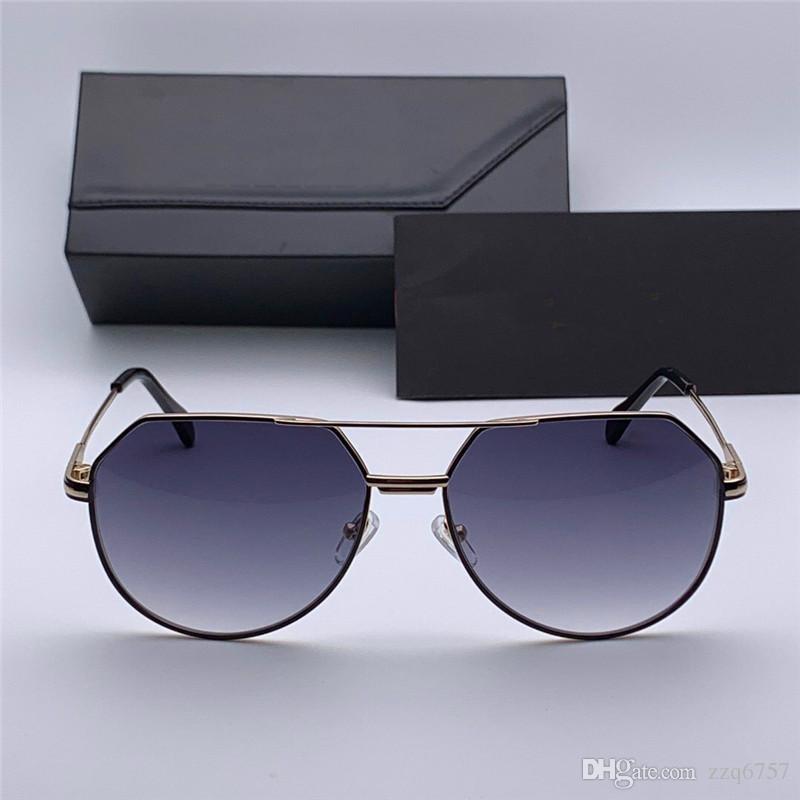 Yeni popüler erkek Alman tasarımcı vaka ile 724 metal Pilot Retro çerçevenin güneş gözlüğü moda basit tasarım stili güneş gözlüğü