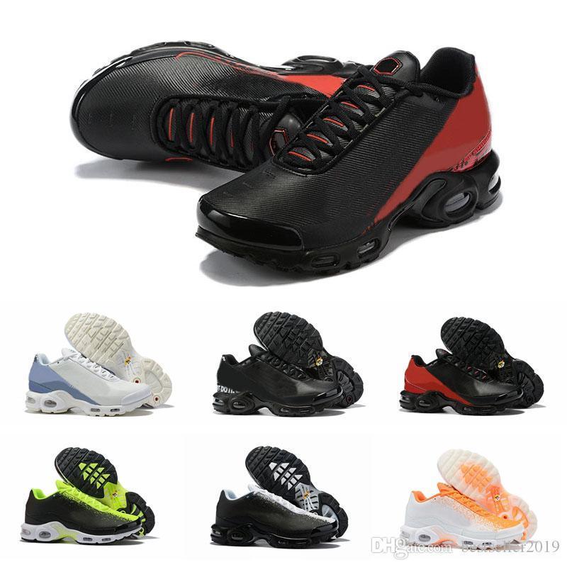 2019 Tn Plus Se Hommes Chaussures De Course Chaussures Tns Mercurial GP Noir Rouge Et Blanc Hommes Trianers Designer Sneakers Scarpe Zapatos Taille 12