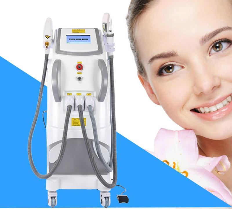 Best quality q switched OPT IPL system SHR ND YAG LASER+RF+Elight hair Removal tattoo removal Skin Rejuvenation beauty machine