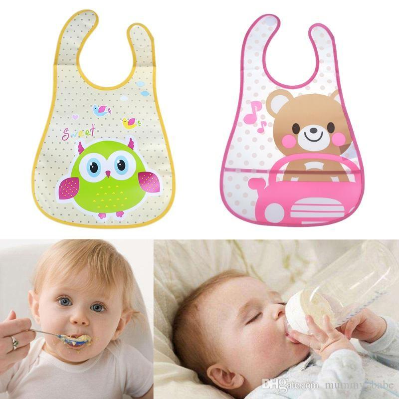 Baby Waterproof Bibs Cute Cartoon Baby Kids Bibs Saliva Towel Feeding Lunch Bandana Apron Bibs Burp Cloths Children Accessorries