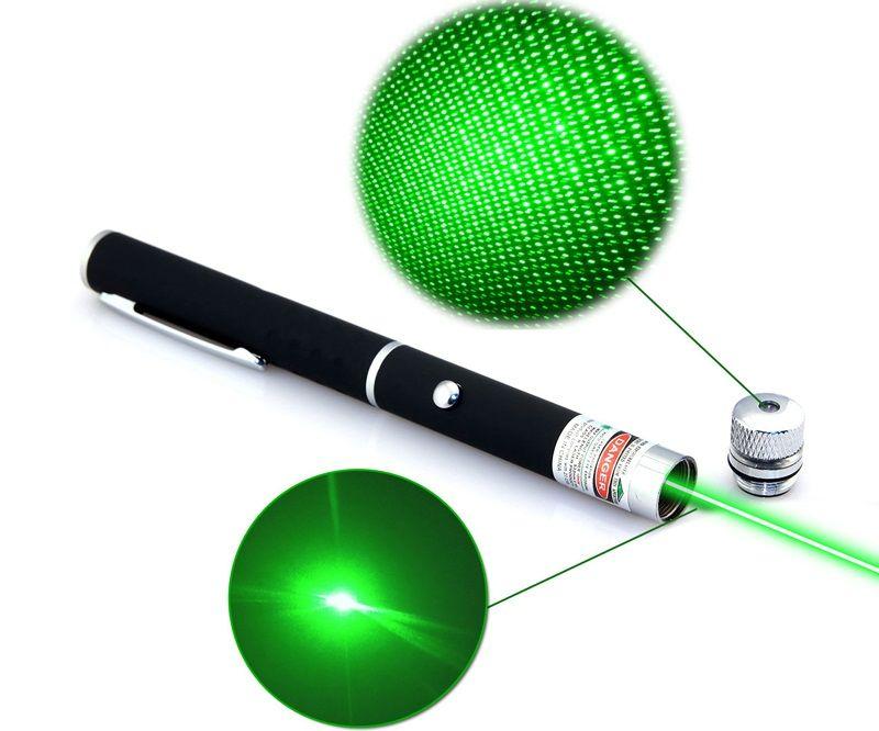 Stylo pointeur laser STAR haute puissance 5mW vert 2in1 puissant lazer présentation jouet pointeur laser point