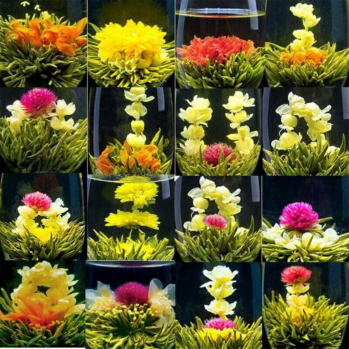 Preference 130g chinesische Spezialität Kräutertee Groß 16 Arten von Handgemachte Kugel-Form-Blumen-Tee New duftenden Tee gesund Green Food