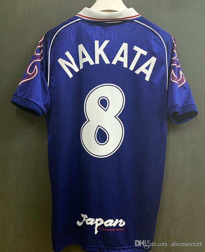 retrò Giappone maglia da calcio 1998 della tazza di mondo Magliette classiche Camisa futebol Maillot Camiseta Trikot pullover di calcio Nakayama Nakata Shinji