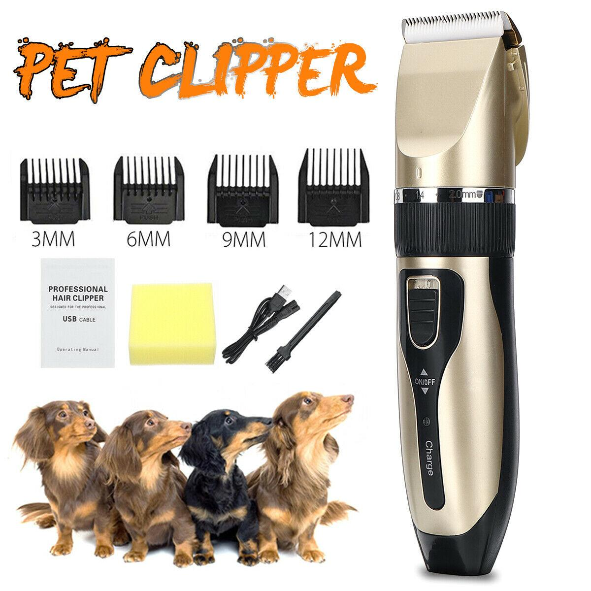 Electric Animal Pet Dog Cat Grooming Clippers Kit Professional Hair Cordless Trimmer Groomer Shaver Razor Quiet Clipper