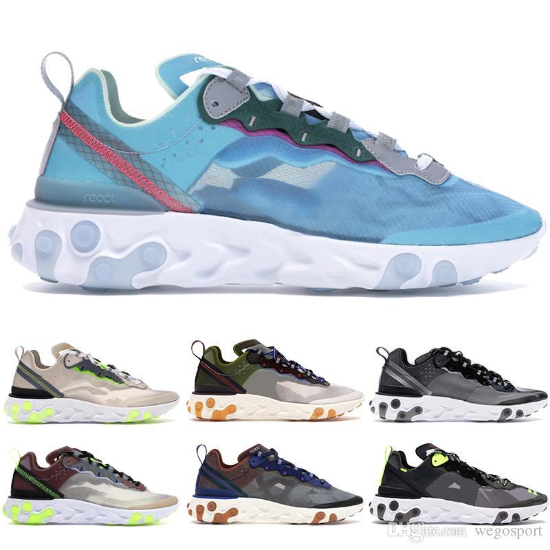 luz sapatos homens giz desporto bege disfarçado névoa verde reagir elemento 87 de trovão azul laranja total de antracite mulheres negras de designer sneakers