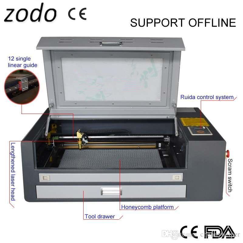 4060 60W ROIDA غير متصل آلة الحفر بالليزر، 460 60 واط 400 * 600 ملليمتر آلة القطع بالليزر لبطاقة الزفاف مربع هدية مربع