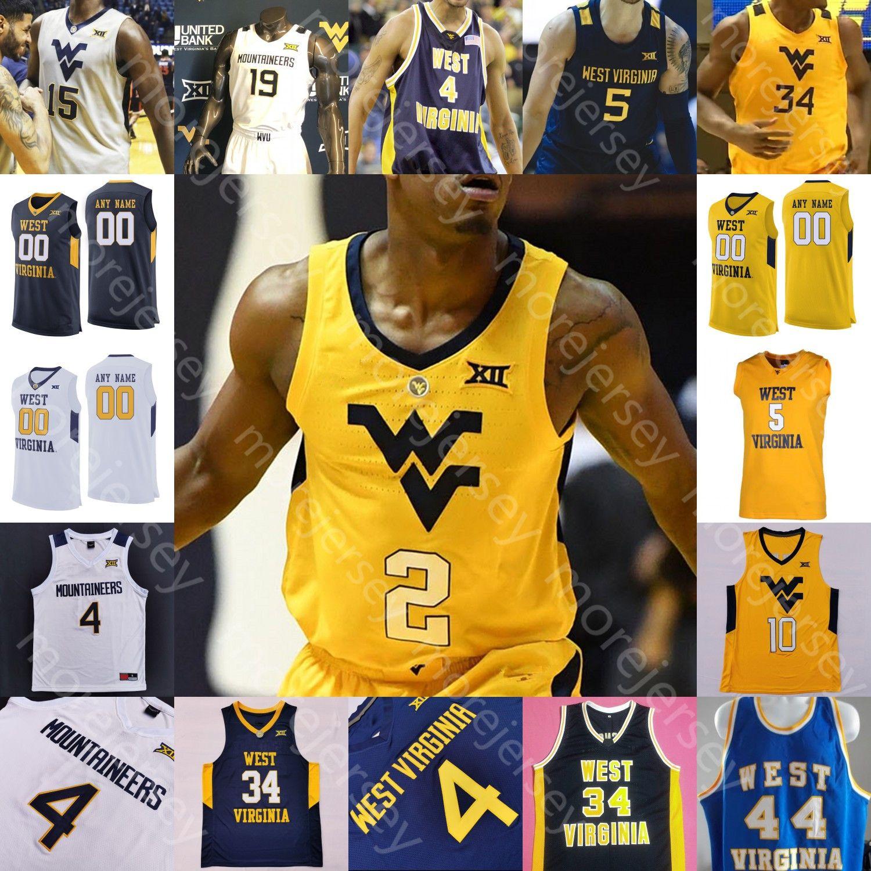 Virginie occidentale WVU Jersey de basketball NCAA College Derek Culver Thweatt Haley Matthews Jr. McBride Chase Chase Harler Knapper Taz Sherman Tshiebwe