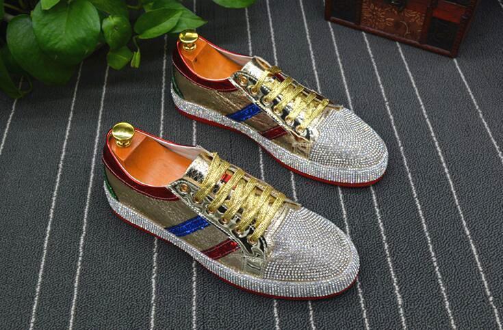 رجال الموضة الحجرية الذهبية الفضية اللون الأحمر المختلط السببي أحذية أحذية أحذية Moccasins رجال قيادة non-slip القاع المطاطي للرجل c20