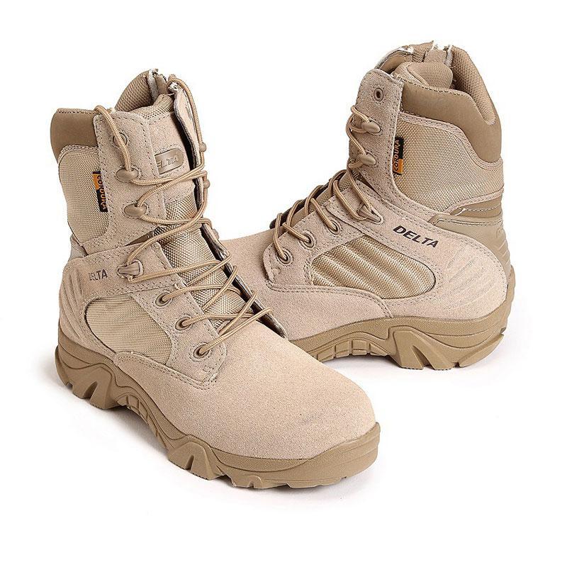 Chaussures de camping tactiques pour hommes en plein air, bottes pour hommes, pour l'escalade, respirant, bottes de montagne légères, chaussures de randonnée, taille 35-46