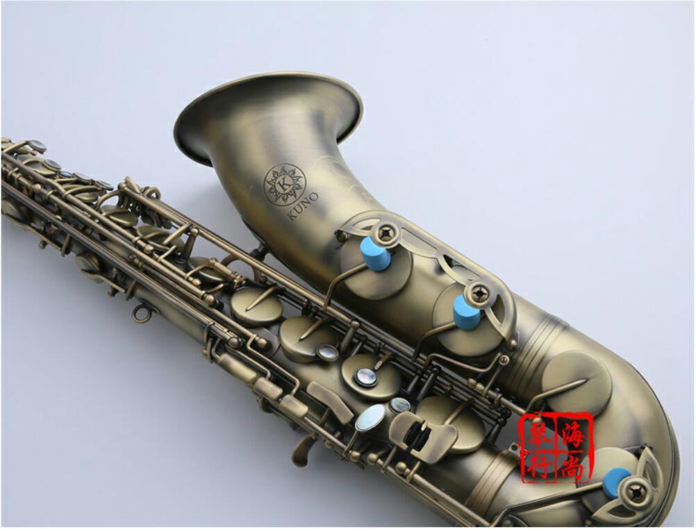 Strumento musicale Giappone KUNO KTS-901VL Tenor Saxophone Coffee Gold B piatto Sax professionale con il caso boccaglio