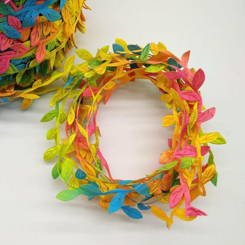 5 м золотисто-зеленый искусственный лист партия домашнего декора свадьбы рождественские украшения искусственный цветок ручной работы скрапбукинг 52099