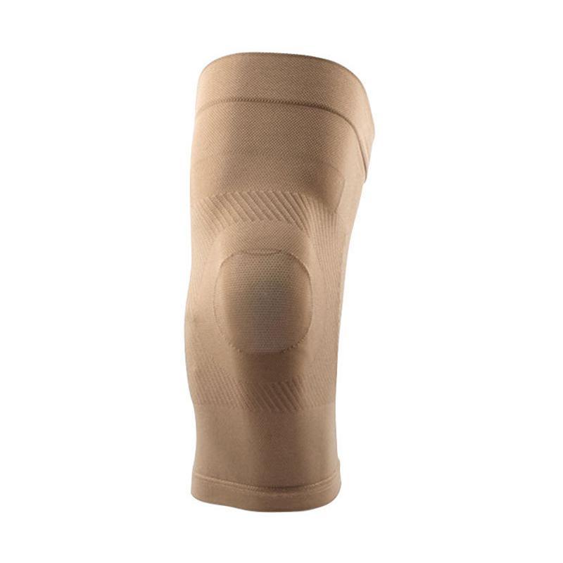 1 par de rodilla Soporte de protección de los deportes profesionales de la rodilla del cojín elástico de alta compresión Brace Baloncesto Tenis Ciclismo manga